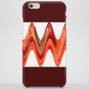 Bold Zig Zag Orange Design Phone Case