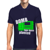 Bomb Has Been Planted Mens Polo