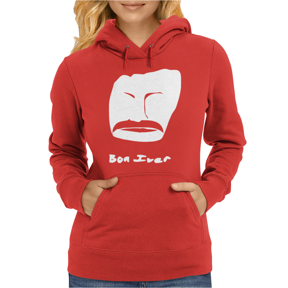 Bon Iver Face Womens Hoodie