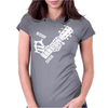 Bone Sign Guitar Womens Fitted T-Shirt