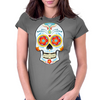 Bonita Calavera Technicolor Exclusive Products Womens Fitted T-Shirt