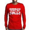 BOOBS Mens Long Sleeve T-Shirt