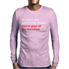 BOREDOM Mens Long Sleeve T-Shirt