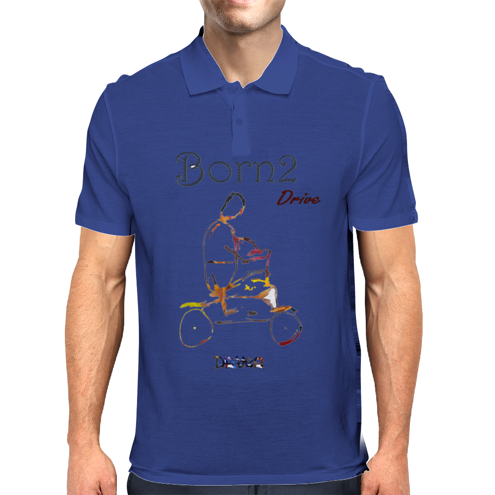 Born 2 drive by Dryer Mens Polo