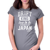 Born In Japan Blue Red Black Womens Fitted T-Shirt