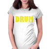 Born To Drum Forced To Work Womens Fitted T-Shirt