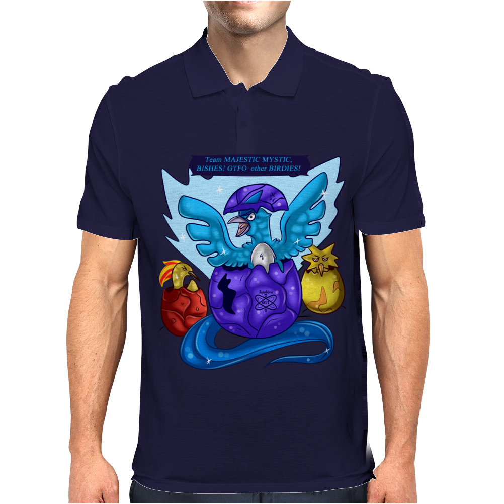 Born to Reign +Team Mystic+ Mens Polo