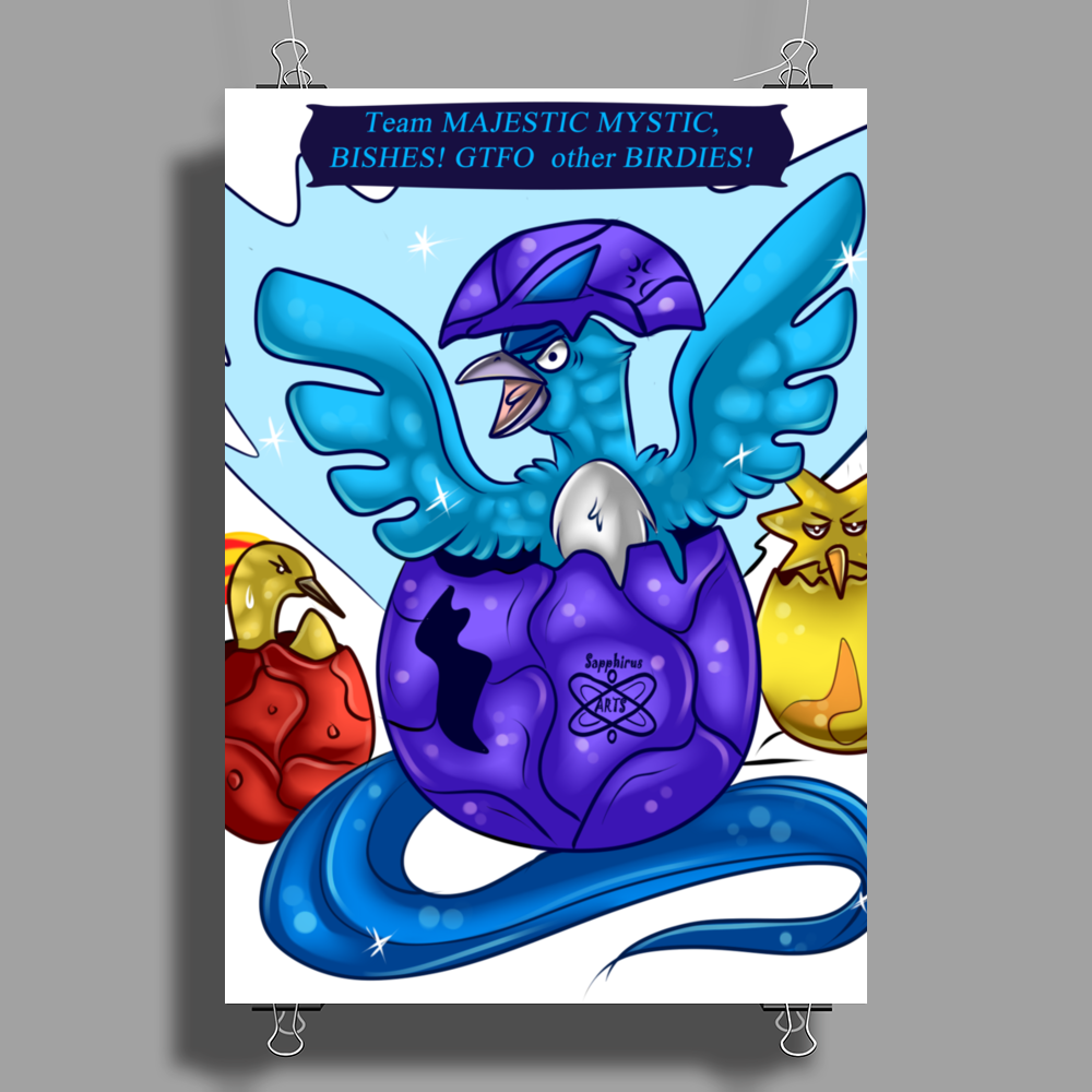 Born to Reign +Team Mystic+ Poster Print (Portrait)
