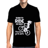 Born To Ride My Bike Mens Polo