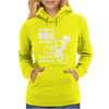 Born To Ride My Bike Womens Hoodie