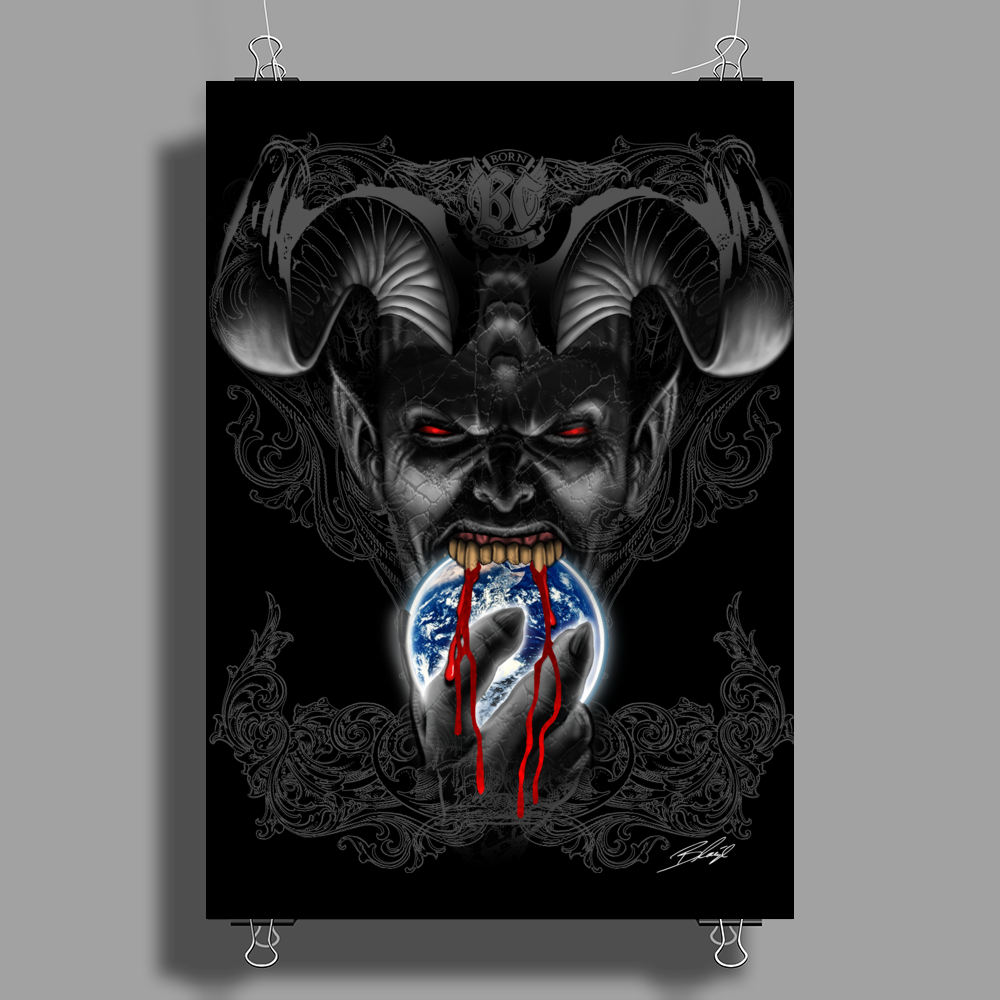 BORNCHOSIN: Appetite for destruction. Poster Print (Portrait)