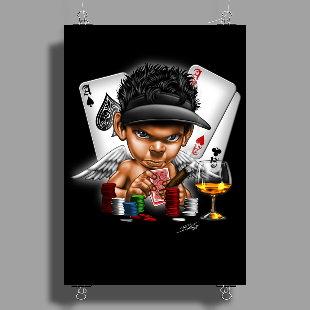 BORNCHOSIN: I play to win. Poster Print (Portrait)