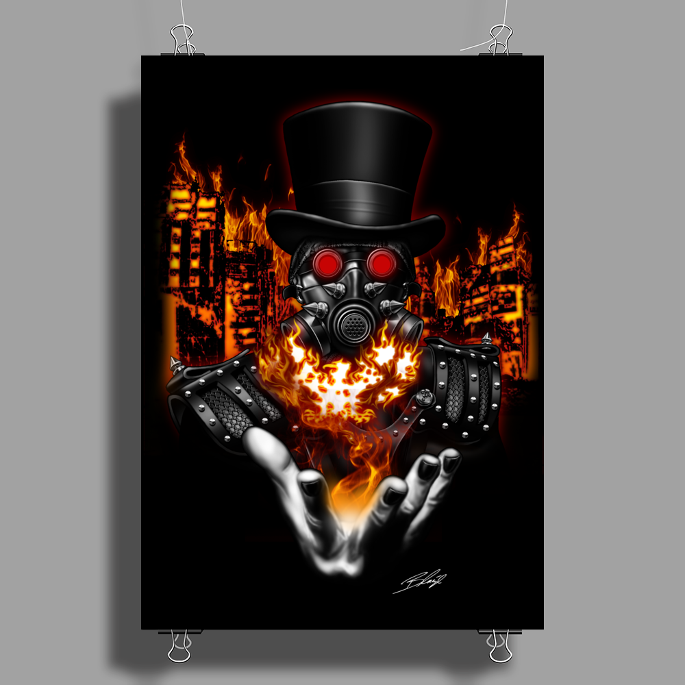 BORNCHOSIN: Phoenix rises from the ashes Poster Print (Portrait)