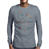 Boston Terrier art Mens Long Sleeve T-Shirt