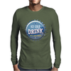 bottle cap crown cap blue crown cork ice cold drink join the party enjoy your party drink alcohol Mens Long Sleeve T-Shirt