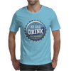 bottle cap crown cap blue crown cork ice cold drink join the party enjoy your party drink alcohol Mens T-Shirt