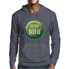 bottle cap crown cap green crown cork ice cold german beer join the party enjoy your party alcohol Mens Hoodie