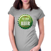 bottle cap crown cap green crown cork ice cold german beer join the party enjoy your party alcohol Womens Fitted T-Shirt