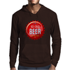 bottle cap crown cap red crown cork ice cold beer join the party enjoy your party drink alcohol Mens Hoodie