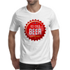 bottle cap crown cap red crown cork ice cold beer join the party enjoy your party drink alcohol Mens T-Shirt