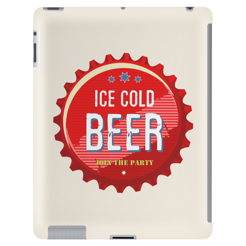 bottle cap crown cap red crown cork ice cold beer join the party enjoy your party drink alcohol Tablet