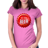 bottle cap crown cap red crown cork ice cold beer join the party enjoy your party drink alcohol Womens Fitted T-Shirt