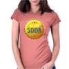 bottle cap crown cap yellow crown cork ice cold soda join the party enjoy your party drink water Womens Fitted T-Shirt