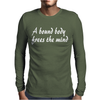 bound body frees the mind Mens Long Sleeve T-Shirt