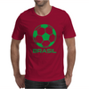 Brasil Sport Soccer Ball Fun Mens T-Shirt