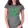 Brasil Sport Soccer Ball Fun Womens Fitted T-Shirt