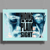 BREAKING BAD - AMC - HEISENBERG - HIDING IN PLAIN SIGHT - WALTER WHITE  - BLUE Poster Print (Landscape)