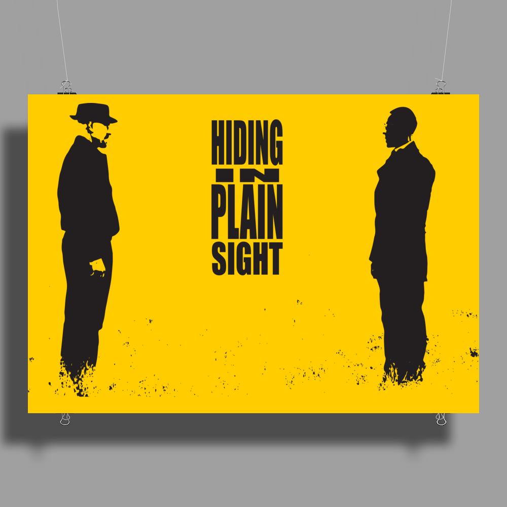 BREAKING BAD - AMC - HEISENBERG - HIDING IN PLAIN SIGHT - WALTER WHITE - SILHOETTE Poster Print (Landscape)