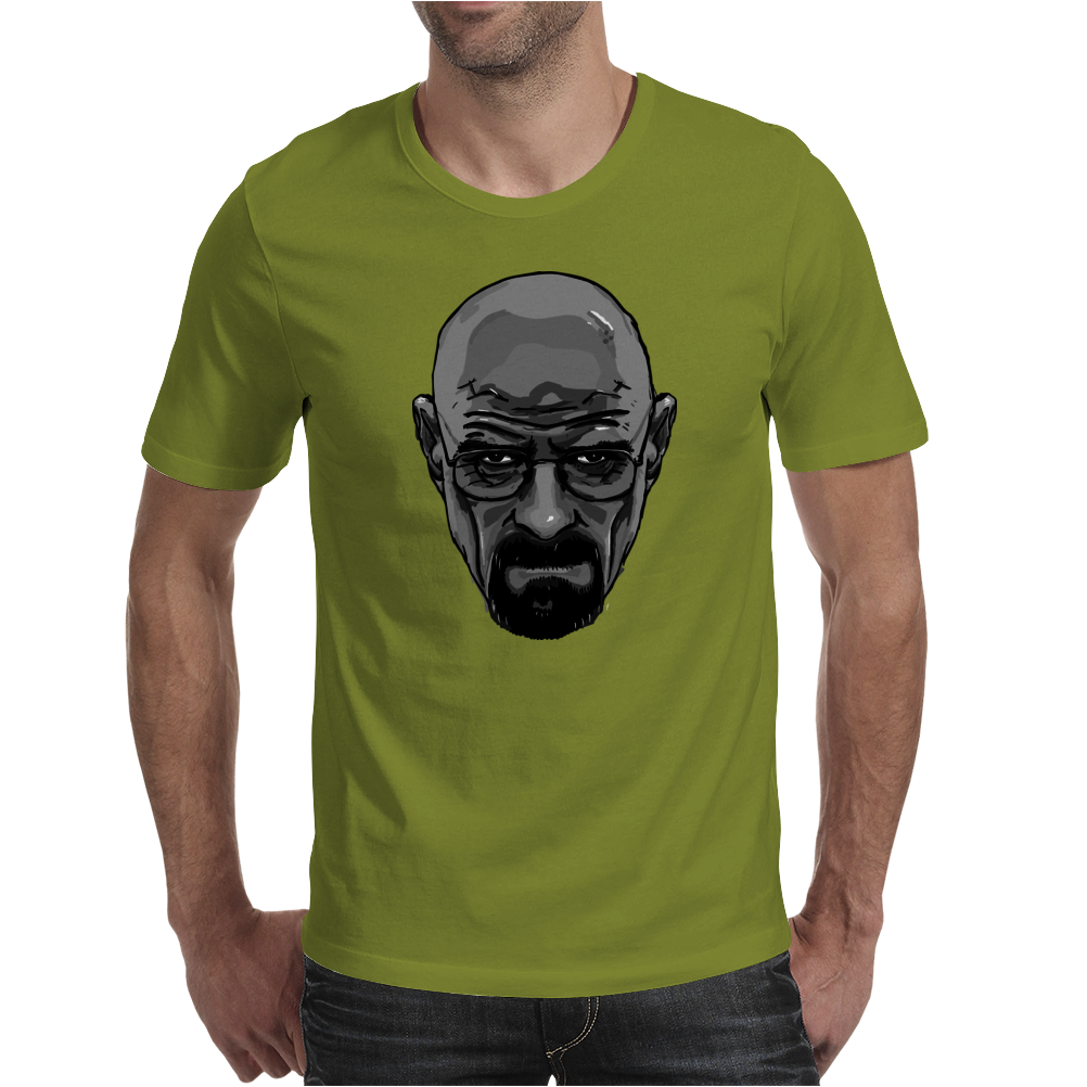 BREAKING BAD - AMC - HEISENBERG - WALTER WHITE - PORTRAIT - BLACK AND WHITE Mens T-Shirt