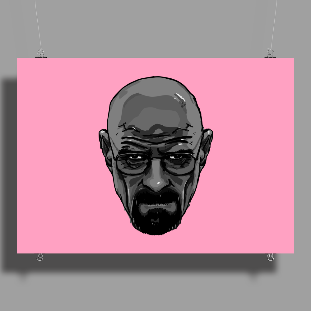 BREAKING BAD - AMC - HEISENBERG - WALTER WHITE - PORTRAIT - BLACK AND WHITE Poster Print (Landscape)