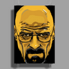 BREAKING BAD - AMC - HEISENBERG - WALTER WHITE - PORTRAIT - YELLOW Poster Print (Portrait)