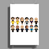 BREAKING BAD - MAIN CHARACTERS CHIBI - AMC BREAKING BAD - MANGA BAD - MANGA Poster Print (Portrait)