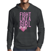 Breast Cancer - Fight Like a Girl Mens Hoodie