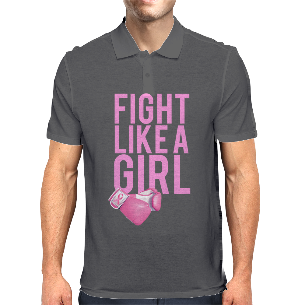 Breast Cancer - Fight Like a Girl Mens Polo