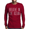 BREATH IN THE OCEAN Mens Long Sleeve T-Shirt
