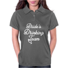 Bride's Drinking Team Diamond Ring Bachelorette Womens Polo
