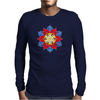Bright Creative Flower Mens Long Sleeve T-Shirt