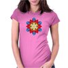 Bright Creative Flower Womens Fitted T-Shirt