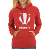 Bring It Come Evil Badger Womens Hoodie