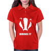 Bring It Come Evil Badger Womens Polo