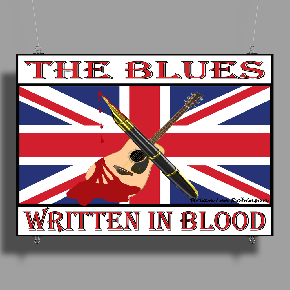 British Blues Written In Blood Poster Print (Landscape)