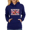 British Blues Written In Blood Womens Hoodie