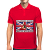 British Classic Rock Written With Blood Mens Polo