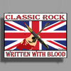 British Classic Rock Written With Blood Poster Print (Landscape)