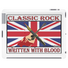 British Classic Rock Written With Blood Tablet (horizontal)