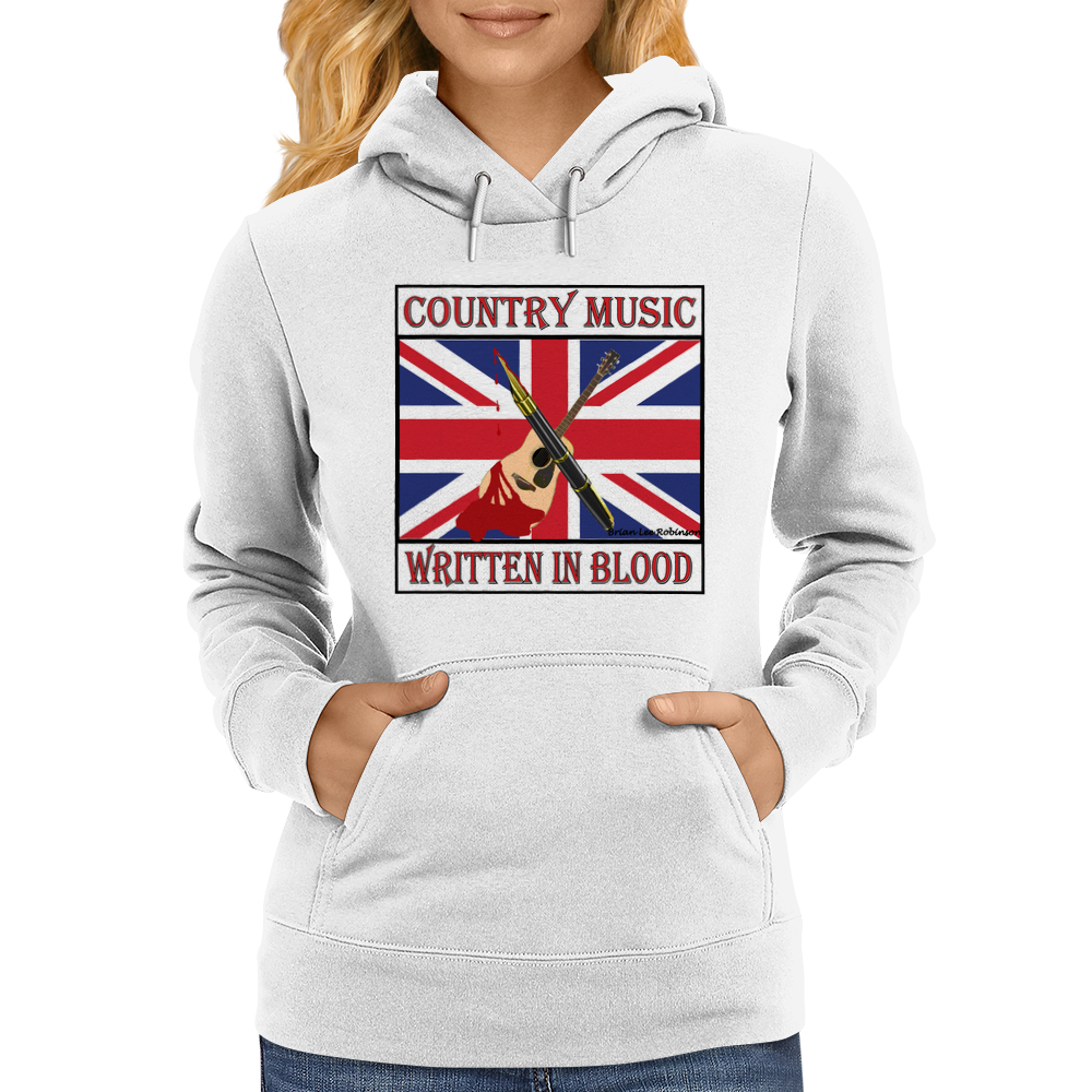 British Country Music- Written In Blood Womens Hoodie